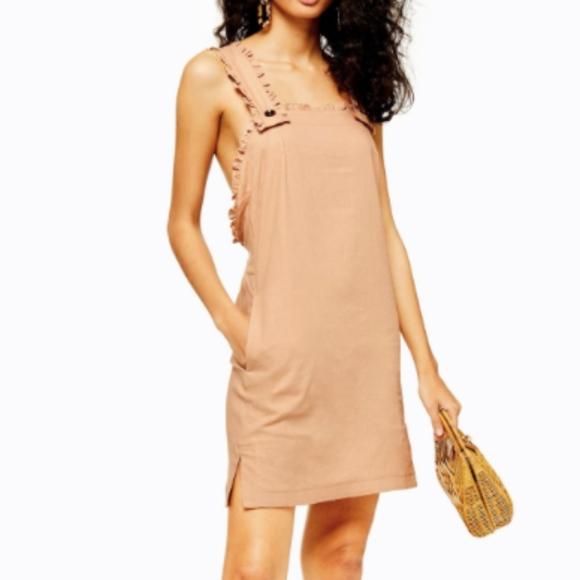 Topshop Dresses & Skirts - Topshop Tan Lines Pinafore Mini Dress.
